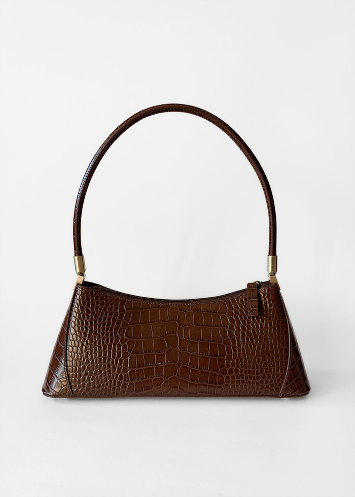 KLARRA BROWN CROC EMBOSSED LEATHER