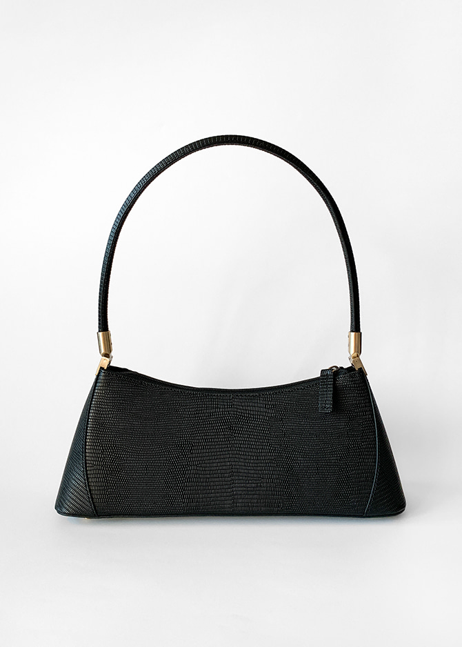 KLARRA BLACK LIZARD EMBOSSED LEATHER