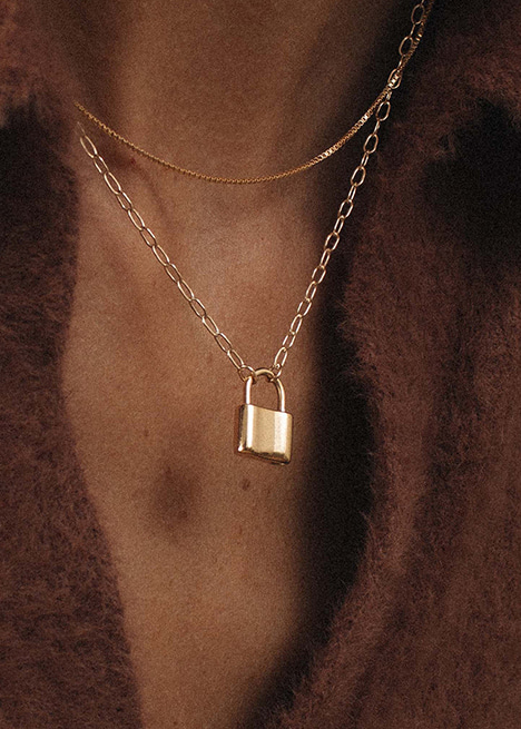 HOLMES PADLOCK NECKLACE