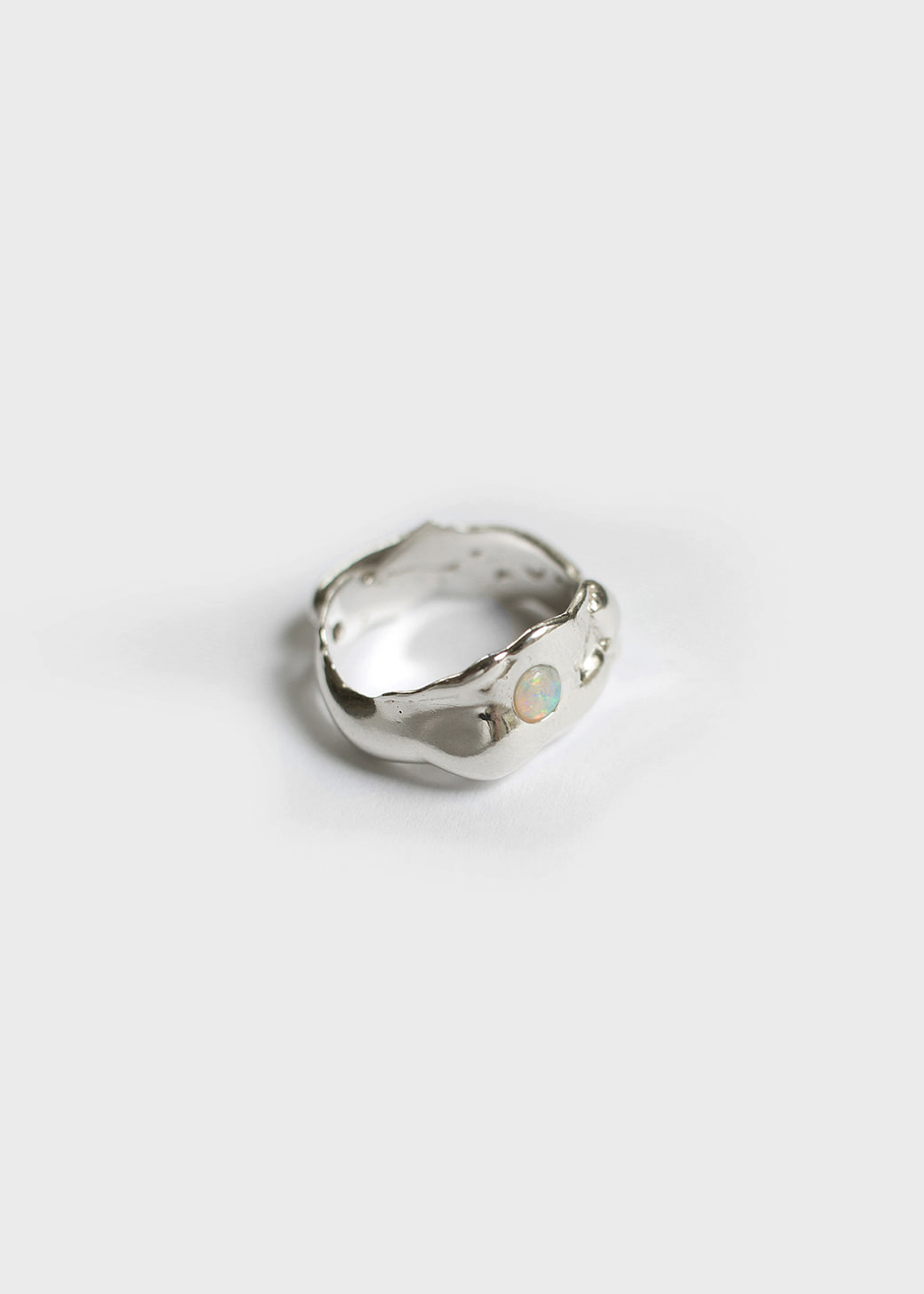 DEW DROP RING IN STERLING SILVER