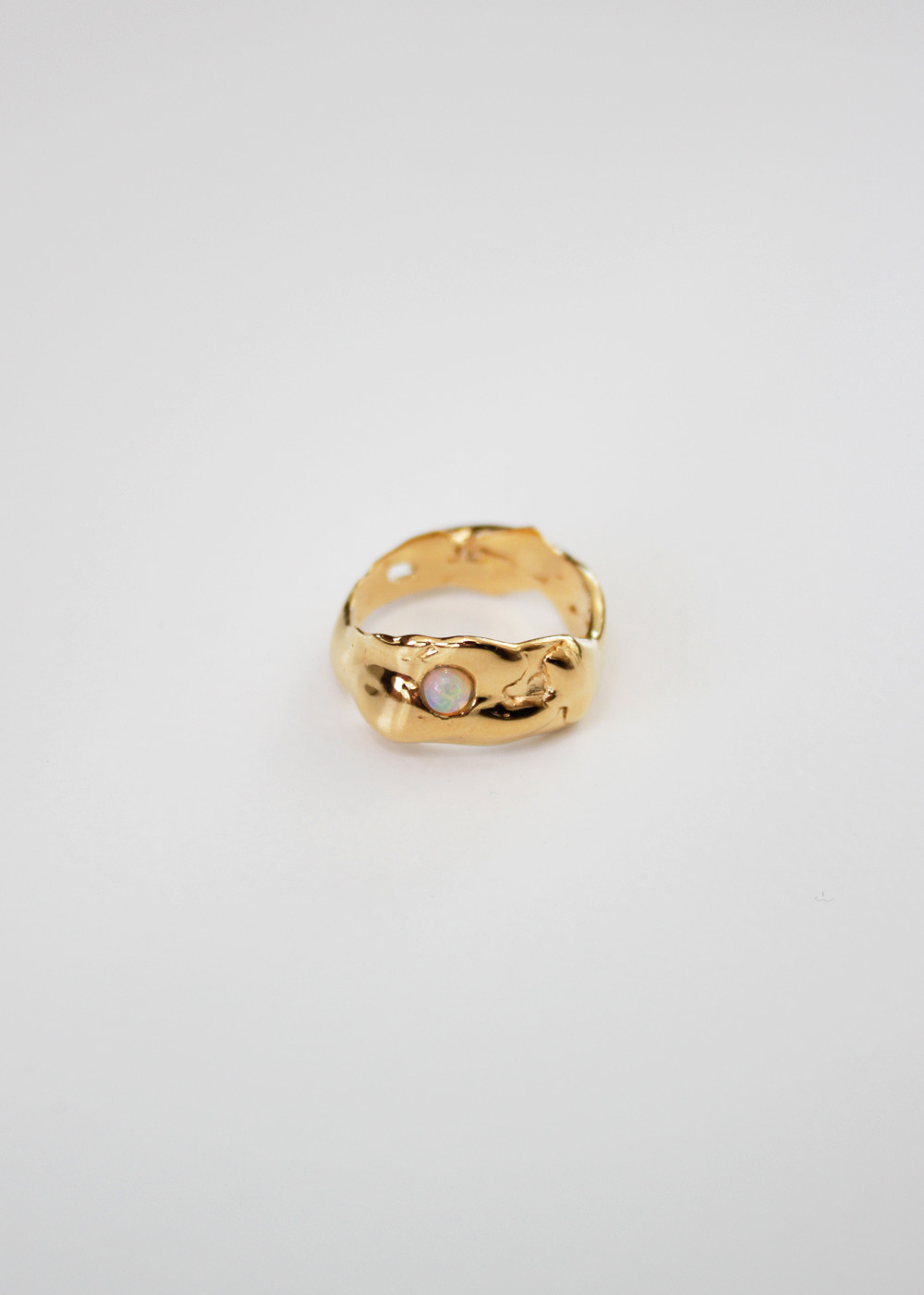DEW DROP RING IN GOLD