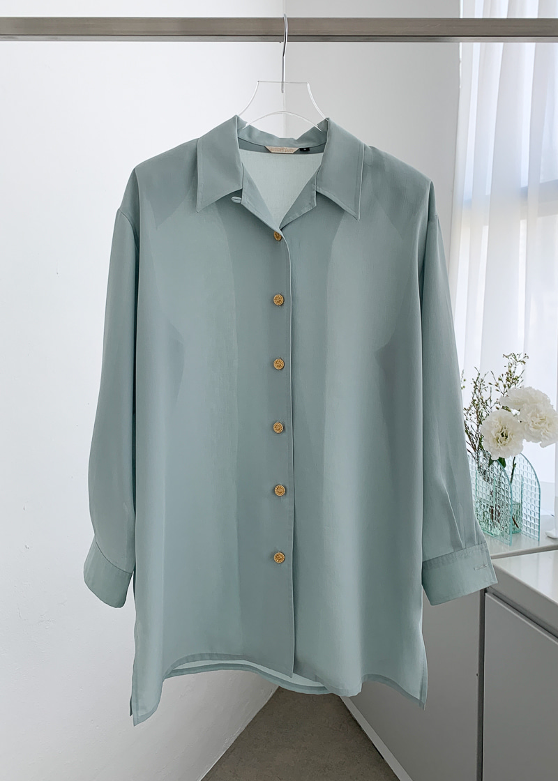 BLUE SAGE OVERSIZED SHIRT