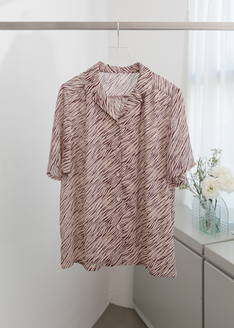 ZEBRA SHEER SHIRT