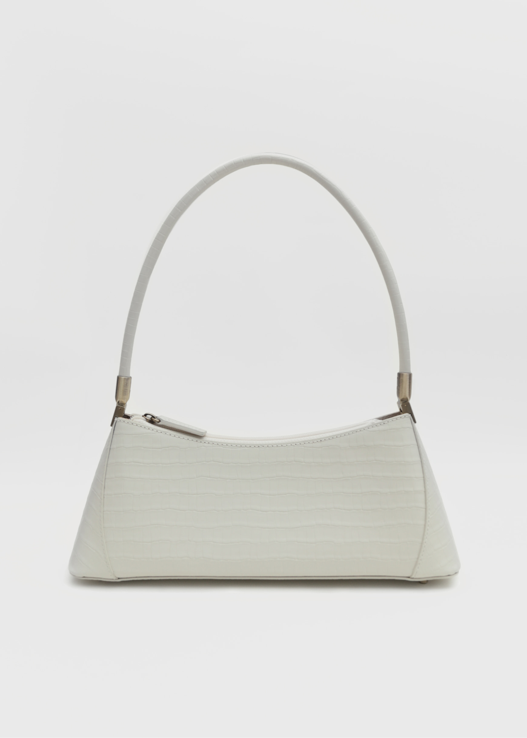 KLARRA IVORY CROC EMBOSSED LEATHER