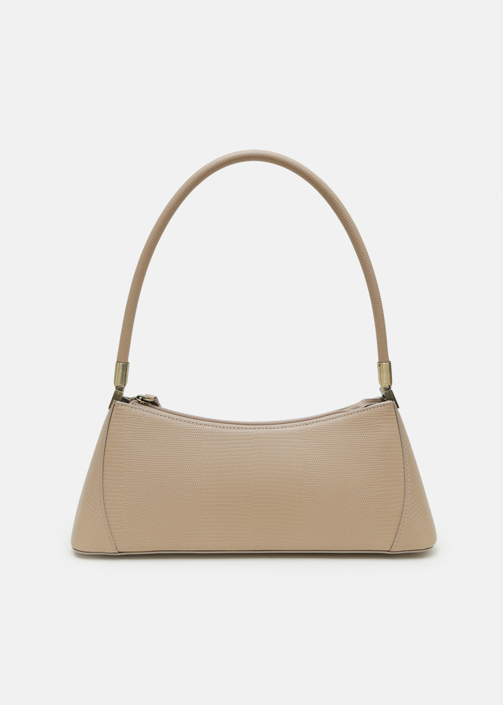 KLARRA BEIGE LIZARD EMBOSSED LEATHER